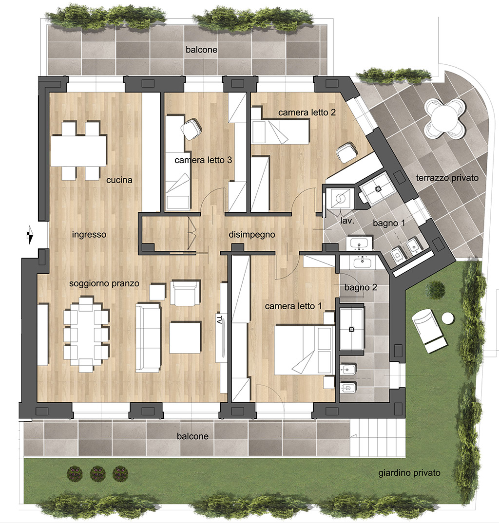 Quadrilocale B2 - Residenza Archimede