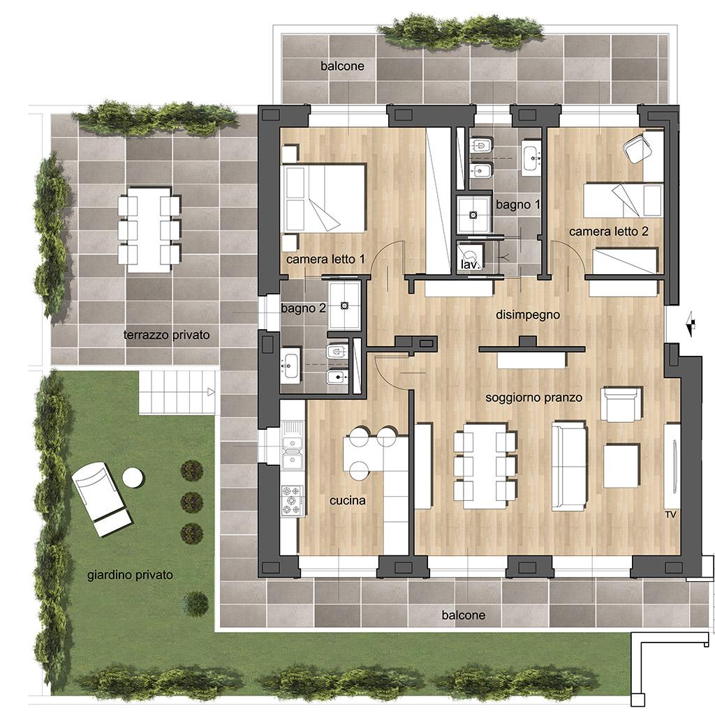 Trilocale A2 - Residenza Archimede